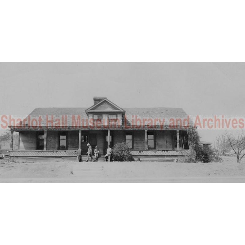 Sharlot Hall, Joe and Dave Dougherty at Governor's Mansion