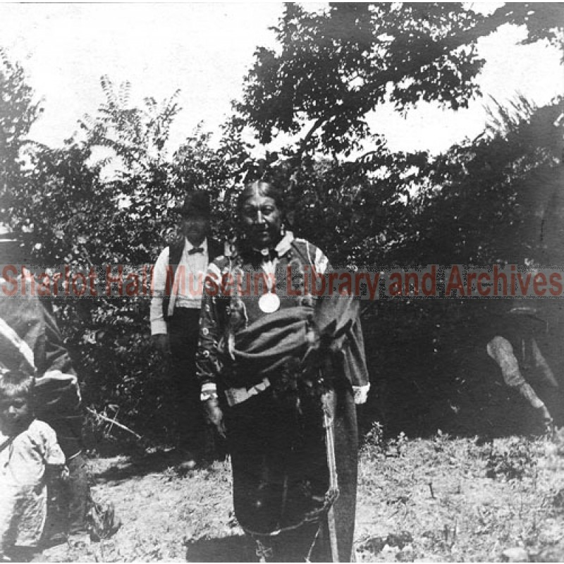 President Theodore Roosevelt with Indian whose brother was killed in Spanish American War