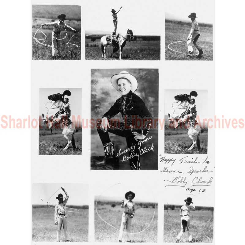 """Still photograph of Bobby Clark from the movie """"Sagebrush Family Trails West"""""""