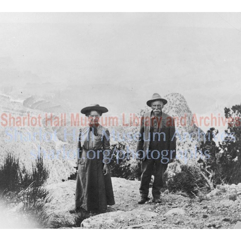 Sharlot and James Hall at Grand Canyon