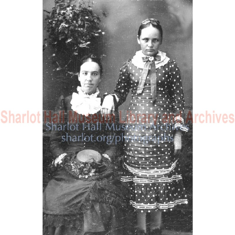 "Sharlot M. Hall and her Aunt Mary ""May"" Boblett"