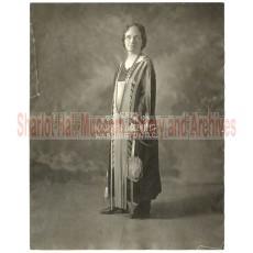 Sharlot M. Hall in Copper Dress - Full Body Shot