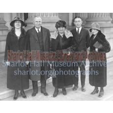 Mrs. R.L. Royal, Senator Ralph Cameron, Sharlot M. Hall & B.P. Lester