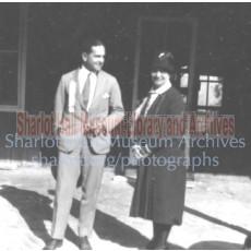 Sharlot Hall and Samuel Dickson at Blythe Bridge dedication