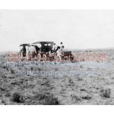 Sharlot Hall and three cars enroute to Walapai
