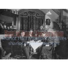 Sharlot Hall having Tea with Friends
