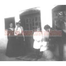 Sharlot Hall, woman, man and 2 children