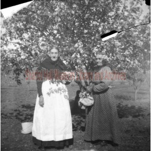 Adeline Hall and unidentified woman