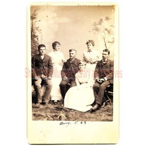 Ed, May & Sam Boblett, Cole Davis, Loy & Minnie Sever
