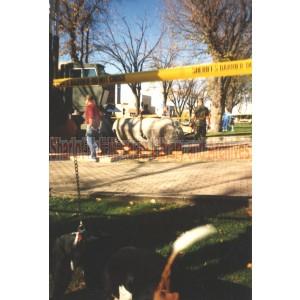 Setting Base for Vietnam Memorial Courthouse Plaza, Prescott, Arizona