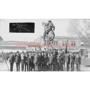 Spanish-American War Veterans at Rough Rider Monument on 26th anniversary of the war, Prescott, Arizona