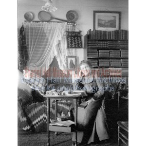 Sharlot M. Hall at her Writing Desk