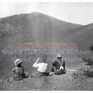 Sharlot and James Hall and Alice Hewins at Sunset Crater