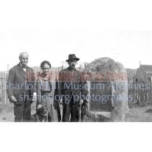 Sharlot Hall, John Mahony, John Duke and dog