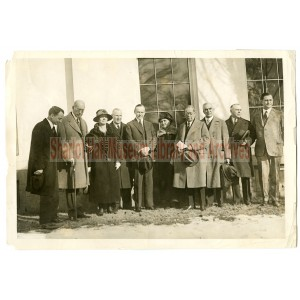 Sharlot Hall, President Coolidge and officials