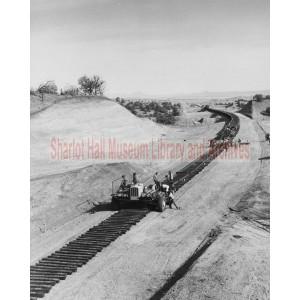 Railway Crews Work on the Abra-Skull Valley, Arizona Line of the Santa Fe Railway