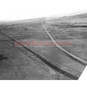 Aerial View of Railroad Line - Santa Fe Line near Sullivan Lake, north of Chino Valley, Arizona