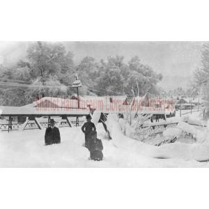 Gurley Street Bridge after snowstorm, Prescott, Arizona