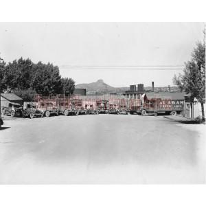 Alabama Freighting and J.E. Davis, Wood Transfer Truck Fleet,  Prescott, Arizona